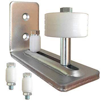 Barn Door Guide Chrome Stainless Steel Nickel Color Adjustable