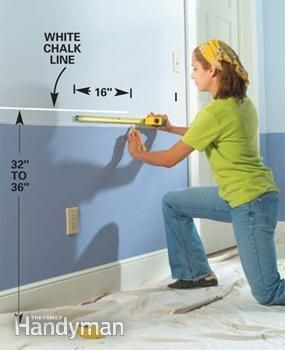 How To Install Chair Rails Just Did This In Our New Dinning Room With Two Tone Walls It S Not As Hard As I Chair Rail Chair Rail Molding Living Room Remodel