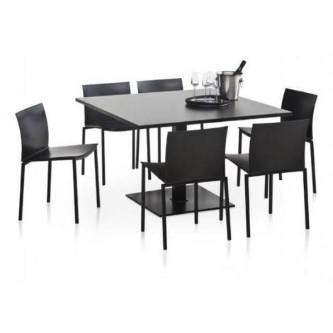 Table De Cuisine Carre Pied Central Carre2 Table Cuisine