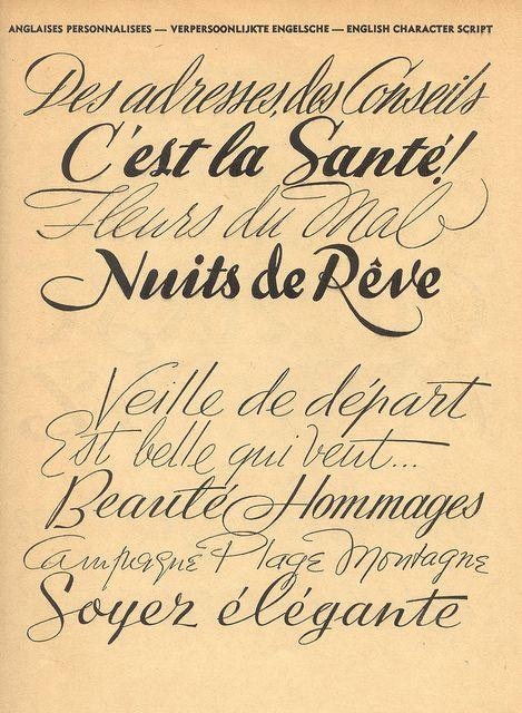 Vintage French Type Specimen Book Album Du Peintre En Batment