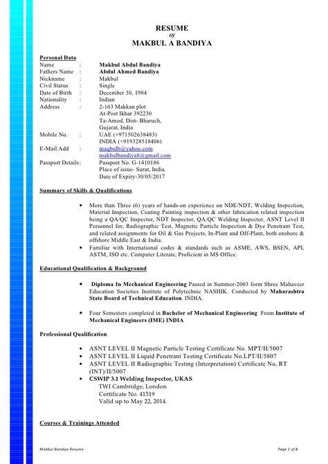 Mechanical Inspector Cover Letter Cvresumeunicloudpl