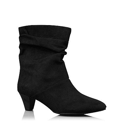 Ruched Heeled Boots   Women   George