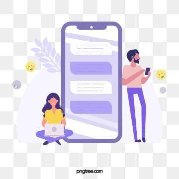 Mobile Phone Clipart Online Mobile Phone Violet Computer Smiling Face Leaf Cartoon Hand Painted Leaf Clipart Computer Clipart Mobile Phone Cartoon Illustration