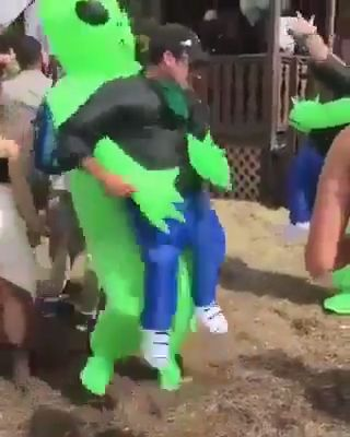 Get OFF Today! Green Alien Carrying Human Costume The post Get OFF Today! Green Alien Carrying Human Costume & Lmao appeared first on Halloween costumes .