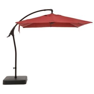 Hampton Bay 8 Ft Square Aluminum Cantilever Offset Outdoor Patio Umbrella In Chili Red Yjaf 037 E The Home Depot In 2020 Patio Umbrella Outdoor Patio Umbrellas Outdoor Umbrella