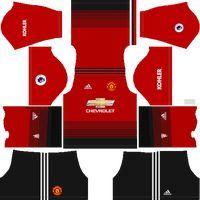 Manchester United 2018 19 Home Kit Dream League Soccer Kits Manchester United Home Kit Manchester United Logo Soccer Kits