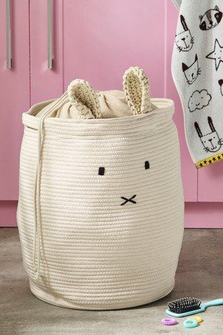 How About A Cute Addition To Home Essentials We Re Talking About Our Bunny Laundry Basket In 2020 Kids Laundry Basket Laundry Basket Velour Towel