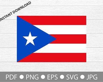 Puerto Rico Svg Puerto Rico Clipart Puerto Rico Silhouette Etsy Clip Art Monogram Alphabet Puerto Rican Flag