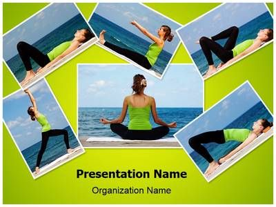 Beach yoga powerpoint template backgrounds beach yoga and template toneelgroepblik Image collections