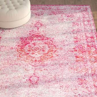 Alessia Pink Area Rug In 2020 Pink Area Rug Area Rugs Shabby Chic Rug