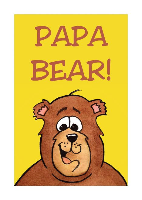 Father Rsquo S Day Card With Cartoon Bear For Papa Bear Card Ad Affiliate Day Card Father Rsquo Bear Card Papa Bear Birthday Cards