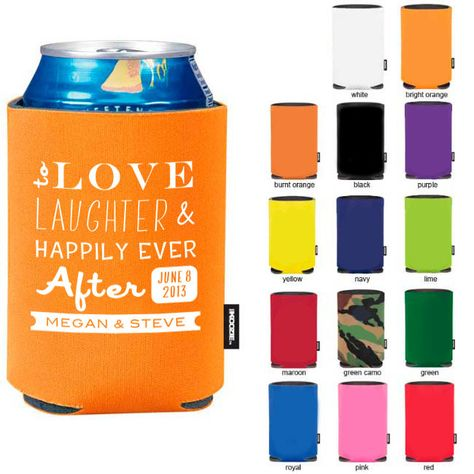 200 Custom Wedding Koozies- Official Koozie Brand Wedding Favors- Engagement Party Favors- Destination Wedding. $250.00, via Etsy.