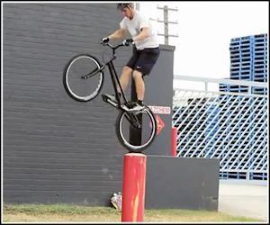 Black Bike Parkour Awesome Video Black Bike Parkour Gif