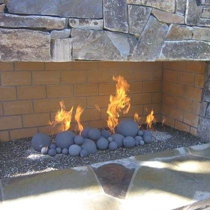 Goodness Gracious Gas Fireball Set For A Large Outdoor Fireplace