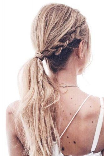 Date-Night Ideas Of A Braided Ponytail To Try Out ★