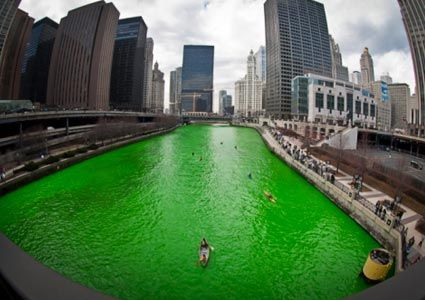 Go to Chicago for St. Patrick's Day and see the Green River!!!