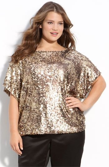 Sejour Dolman Sleeve Sequin Top- Would look super cute with some skinny jeans and gold or black pumps. Very Theta!