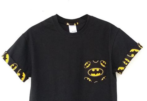 c44b9cb8adf1fa Batman T-shirt DC Comics Batman Patched Pocket by UnpluggedStudio ...