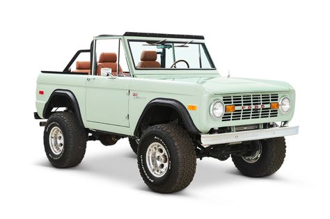 Classic Ford Bronco frame-off restoration using all of our components. 1971 Ford Bronco with Coyote engine, ZF 5 Speed transmission in Brittany Blue. Classic Bronco, Classic Ford Broncos, Ford Classic Cars, Best Classic Cars, Classic Trucks For Sale, Ford Bronco For Sale, Bronco Car, Early Bronco, Ford Capri