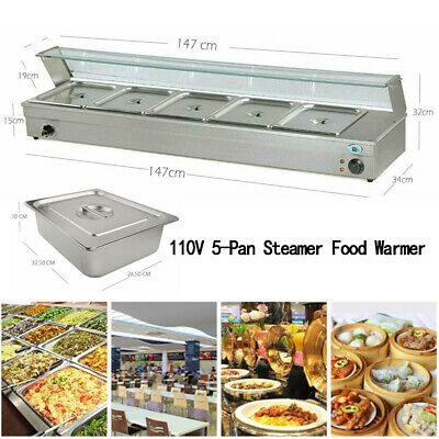 Ad Ebay Url 110v 5 Pan Steamer Bain Marie Buffet Countertop Food