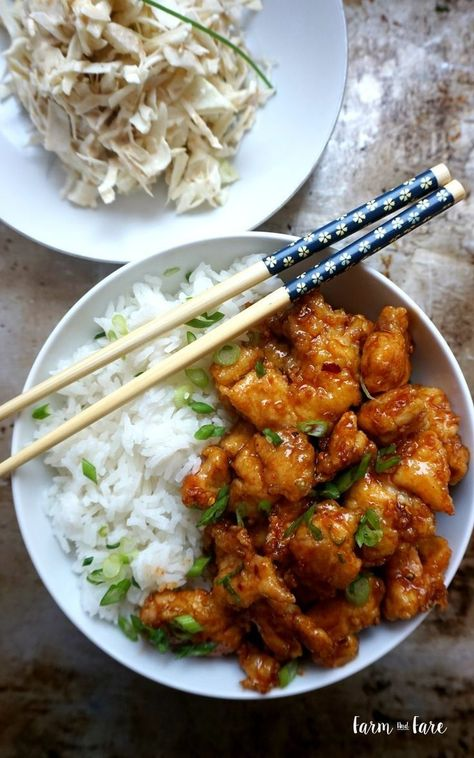 Spicy Korean Chicken — Farm and FareYou can find Korean food and more on our website.Spicy Korean Chicken — Farm and Fare Spicy Korean Chicken, Asian Chicken, Gochujang Chicken, Chicken Rice, Asian Recipes, Healthy Recipes, Healthy Food, Spicy Food Recipes, Asian Desserts