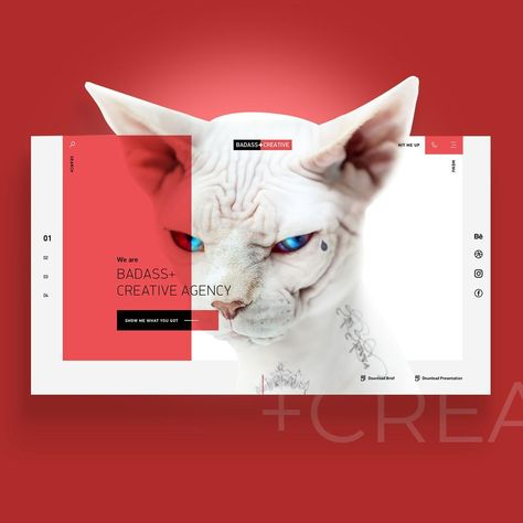 Badass+Creative Agency by Tibor Tovt  Want to get featured? 👇 Use #pixelwebworks