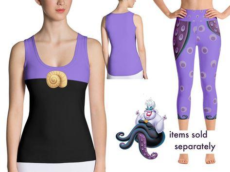 Ursula Disney Villains Inspired Sport Capri Leggings