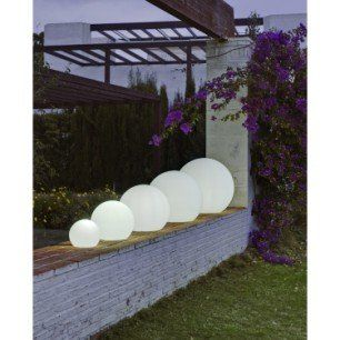 Boule Decorative Exterieure Buly Diam 30cm E27 15 W 800 Lm Blanc Newgarden Eclairage Exterieur Terrasse Boule Lumineuse Exterieur Deco Lumineuse