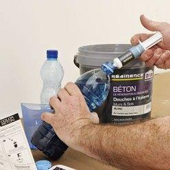 Comment Renover Une Credence De Cuisine Avec Un Beton Colore Credence Cuisine Joint De Carrelage Et Beton Colore