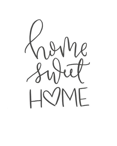 Home Sweet Home // Brush Script Quote // Digital Print // | Etsy