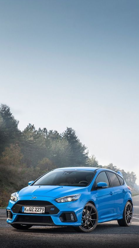 Universal Phone Background Electric Blue Ford Focus Rs Wallpaper