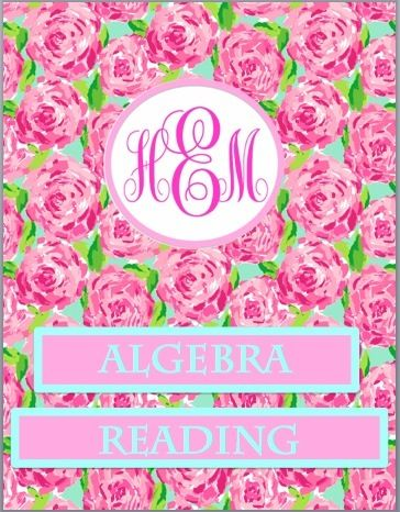 Lilly Pulitzer + Monogram binder covers! | College | Pinterest ...