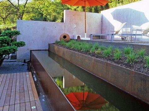 garten cortenstahl - Google-Suche Terrasse Pinterest - terrassengestaltung mit wasserbecken