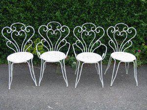 Vintage French Wrought Iron Garden Chairs Wroughtironpatiochairs Decoracao De Ferro Mobiliario De Jardim Decoracao De Interiores