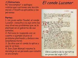 Resultado De Imagen Para Estructura Del Conde De Lucanor Ppt