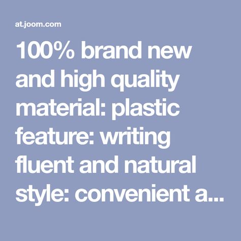 100 Brand New And High Quality Material Plastic Feature Writing