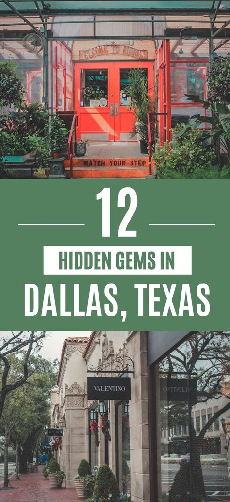 Looking for secret spots in Dallas to getaway to this weekend? Here are 12 hidden gems in Dallas written by a local. Best Of Texas. If you're looking to take a Texas this is where to go. Texas Roadtrip, Texas Travel, Texas Vacations, Family Vacations, Viaje A Texas, Weekender, Dallas Things To Do, Moving To Dallas, Dallas Travel