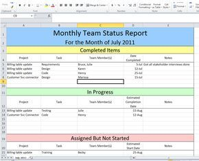 Get Project Status Report Template Excel Exceltemple Project