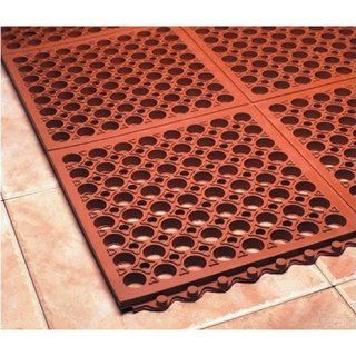 Mats Inc Cushion Safe Kitchen Mat Black Red 3 X 3 Square