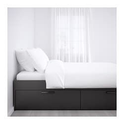 Ikea Brimnes Black Bed Frame With Storage Bed Frame With Storage