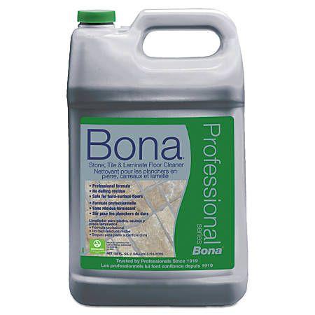 Bona Stone Tile And Laminate Floor Cleaner Fresh Scent 128 Oz Refill Bottle Office Depot Floor Cleaner Laminate Cleaner Laminate Flooring