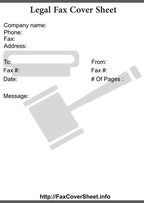 Printable Legal Fax Cover Sheet Templates Printable Legal Fax - sample urgent fax cover sheet