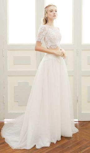 A Line Beach Wedding Dress Boho Sweetheart Floor Length Tulle Two