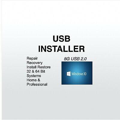 Windows 10 Usb All Versions 32 64bit Restore Repair Install Upgrade In 2020 Repair Installation Restoration