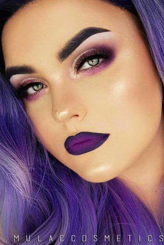 Shades of purple lips | Purple lipstick