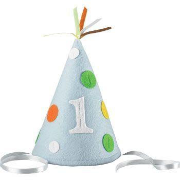 1st Birthday Boy Party Hat (each) - 1st Birthday Boy Party Supplies