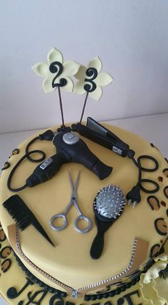 Hairdresser Cake Malu Pinterest Hairdressers And Beautiful Birthday Cakes