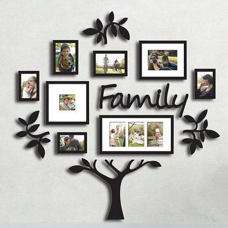 Family Tree Photo Frame Set College Frame Wall Decoration Combination Pvc Picture Frame Selfie Ga In 2020 Family Tree Photo Frame Frames On Wall Picture Frame Wall