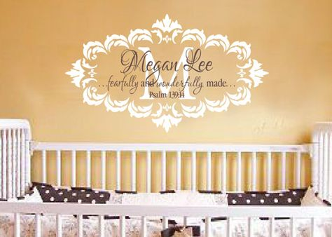 Psalm 139:14 Fearfully and Wonderfully Made Damask Frame Shabby Chic ...