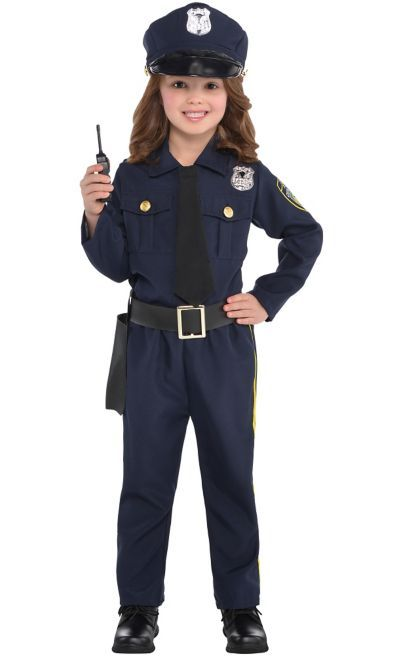 Shop for Girls Classic Police Officer Costume and other